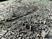 london bridge 3d obj