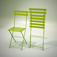 3d chair metal bistrot model