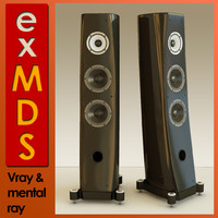 v-ray floor standing speakers 3d max