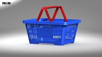 shopping basket 3d max