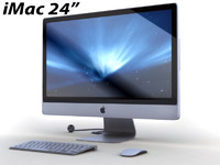 imac mac keyboard 3d model