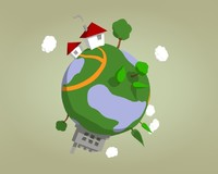 small planet earth - 3d model