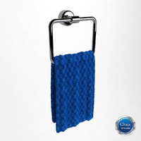 towel hanger 3d 3ds