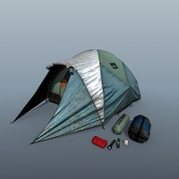 3ds max sleeping tent