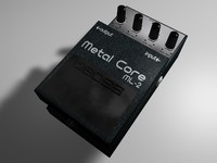3d pedal boss metal core model