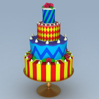 colorful cake 3d model
