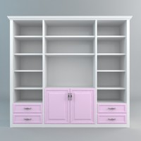 3d bookshelves storage model