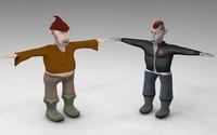 gnomes 3d model