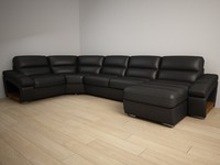corner couch leather 3d max