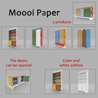 moooi paper cupboard cabinet 3d model