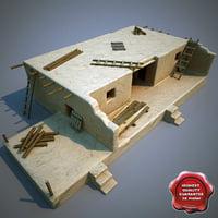 afghanistan house interior c4d