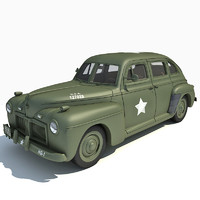 tam32559 army staff car 3d model