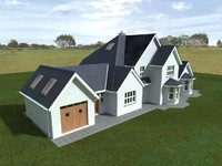 3dsmax detached house