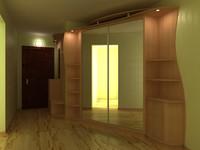 wardrobe interior 3d model