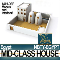 Ancient Egyptian Middle Class Complete House & Set