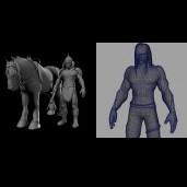 3d death character model