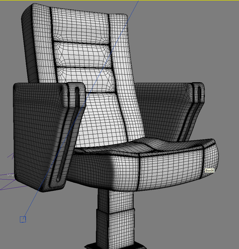 Theater Retractable Seats 3d Model Animated Max: Stadium Seating
