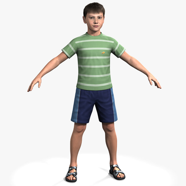 3ds max rigged ben boymodel boy