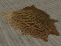 fur rug tiger skin 3d max
