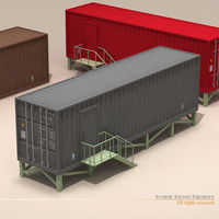 3d model container office