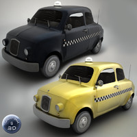 3d taxis yellow