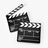 3d model clap board clapboard