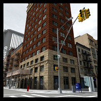 3d newyork buildings model