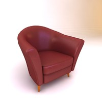 3d model armchair interior