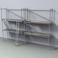 scaffolds ladders 3d 3ds