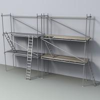 scaffolds ladders 3d obj