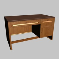 3d model metallic desk