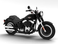 harley-davidson flstfb fat boy 3d model