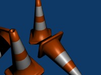 free traffic cones 3d model