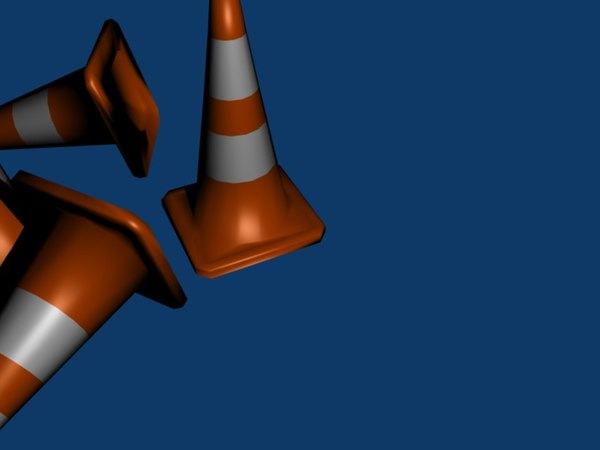 free traffic cones 3d model - Traffic Cones... by zachloar