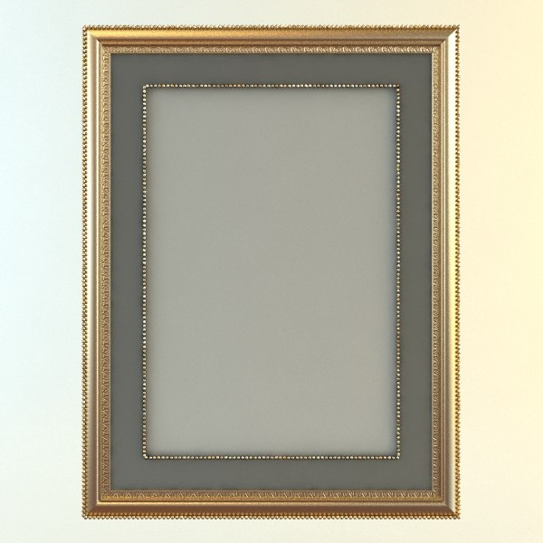3d picture frame rectangular - Rectangular Picture Frame and Mat... by 3dfurniture
