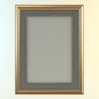 Rectangular Picture Frame and Mat