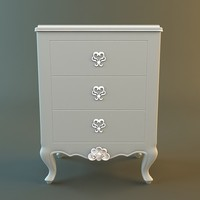 3d antique dresser details model