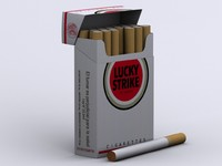 lucky strike cigarettes box 3d model