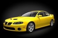 car pontiac gto 3d model