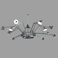 3d model of ingo moooi chandelier