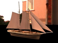 38m sailing boat 3ds
