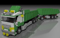 3ds max lego big truck
