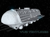 3d model alcestis habitat vessel transport