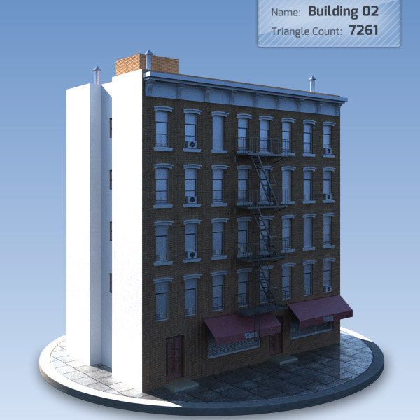 Low Poly Residential Building 2