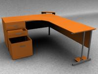 3ds modern desk