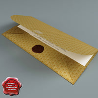 3d envelope greetings open