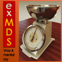Kitchen Scales (vray & mr)