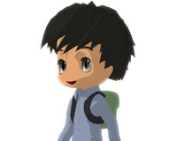 male chibi version 2 3d obj