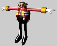 3d dr robotnik eggman sonic hedgehog