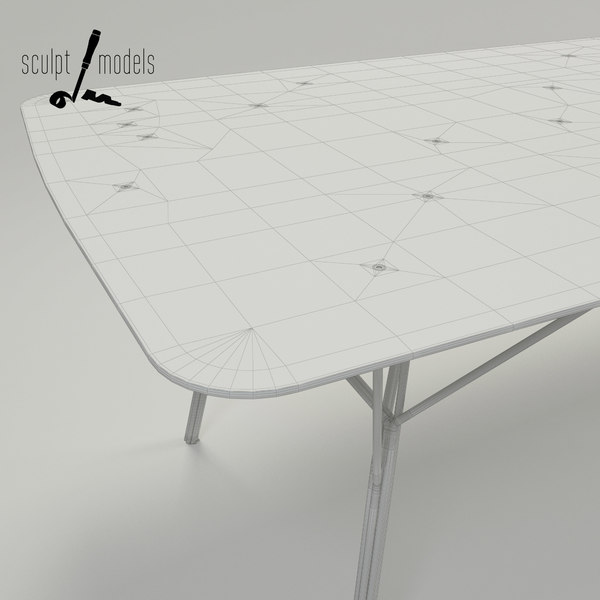 shrub table 3d max - Shrub Table... by SculptModels